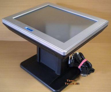4POS TM-150 15 Zoll Touchscreen TFT LCD VGA Monitor mit USB Windows 7 8 XP* mo01