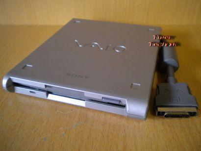 SONY VAIO PCGA-FD5 externes Floppy Drive mit integriertem Kabel silber* FL28