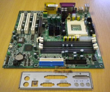 MSI MS-6385 Ver:1 Mainboard + Blende * Intel Sockel 423 * AGP PCI Slots * m17