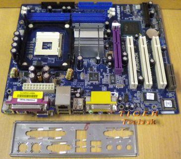 ASRock P4i45GV Rev 5.01 Mainboard +Blende Sockel 478 AGP DDR VGA Audio LAN* m606