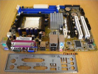 Asus A8V-VM SE Rev1.00G Mainboard +Blende Sockel 939 VGA LAN Audio PCIe DDR*m619