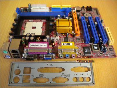 Biostar K8M800-M7A Ver1.0 Mainboard +Blende Sockel 754 AGP VGA LAN SATA Aud*m625