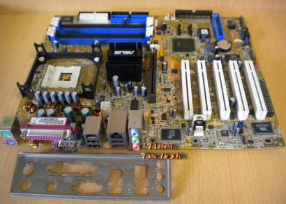 ASUS P4P800 Deluxe Rev 2.00 Mainboard +Blende Sockel 478 SATA AGP IDE-RAID* m626