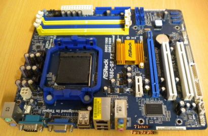 ASRock N68C-GS FX Rev1.05 Mainboard Sockel AM3+ VGA LAN Audio DDR2 o. DDR3* m635