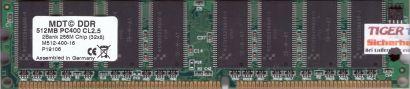 MDT M512-400-16 PC-3200 512MB DDR1 400MHz Arbeitsspeicher RAM* r48