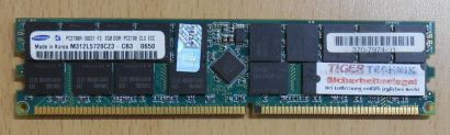 Samsung M312L5720CZ3-CB3 PC2700R-30331-F3 CL3 ECC 2GB DDR1 333MHz PC2700* r52