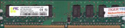 Aeneon AET760UD00-25D PC2-6400 CL5 1GB DDR2 800MHz Arbeitsspeicher RAM* r53