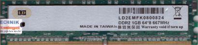 LD PC2-5300 1GB DDR2 667MHz 64x8 Arbeitsspeicher RAM* r58