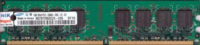 Samsung M378T2953CZ3-CE6 PC2-5300 1GB DDR2 667MHz Arbeitsspeicher RAM* r59