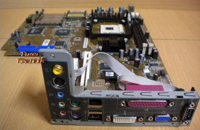 Asus Pundit A7 P4S8L Rev1.02 Mainboard +Blende Sockel 478 VGA DVI LAN Audio*m26