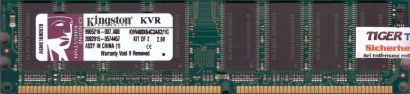 Kingston KVR400X64C3AK2 1G PC-3200 512MB DDR1 400MHz 9905216-007 A00 RAM* r70