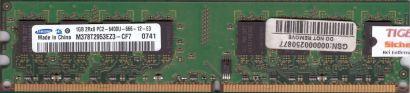 Samsung M378T2953EZ3-CF7 PC2-6400 1GB DDR2 800MHz Arbeitsspeicher RAM* r77