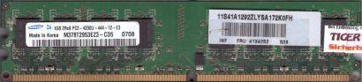 Samsung M378T2953EZ3-CD5 PC2-4200-444-12-E3 1GB DDR2 533MHz Arbeitsspeicher* r78