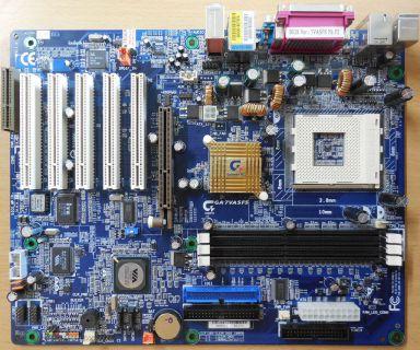 Gigabyte GA-7VASFS Rev1.0 Mainboard +Blende Sockel A 462 VIA KT600 AGP SATA* m29