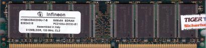 Infineon HYS64D64020GU-7-B PC2100U-20330-B1 512MB DDR1 266MHz CL2 RAM* r92