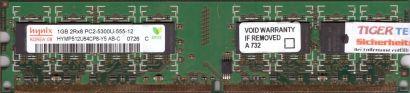 Hynix HYMP512U64CP8-Y5 AB-C PC2-5300 1GB DDR2 667MHz Arbeitsspeicher RAM* r95