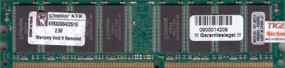 Kingston KVR333X64C25 1G PC-2700 1GB DDR1 333MHz 99U5193-091 A01LF RAM* r103