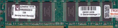 Kingston KVR333X64C25 1G PC2700 1GB DDR1 333MHz Arbeitsspeicher* r103