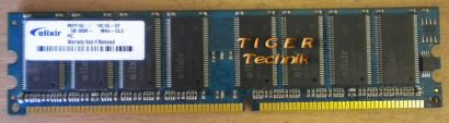 Elixir M2U51264DS8HB3G-5T PC3200U-30330 CL3 512MB DDR1 400MHz RAM* r109