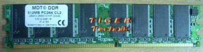 MDT M924-333-16 PC2700 1GB DDR1 333MHz 2Bank 512M Chip 64x8 Arbeitsspeicher*r112