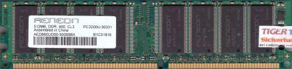 Aeneon AED660UD00-500B98X PC-3200 512MB DDR1 400MHz Arbeitsspeicher DDR RAM*r116
