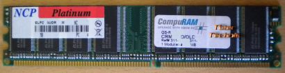 NCP Platinum ELPD6AUDR-60M48 PC2700 512MB DDR1 333MHz Arbeitsspeicher* r122