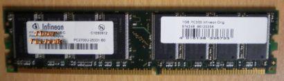 Infineon HYB25D256800BT-5 PC3200 512MB DDR1 400MHz Arbeitsspeicher* r123