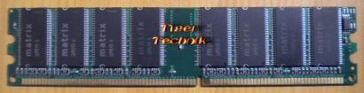 Matrix PC-2100 512MB DDR1 266MHz Arbeitsspeicher einseitig 16M84X-6 Chips* r124