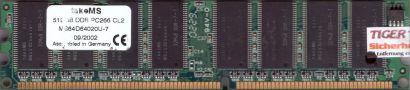 takeMS MS64D64020U-7 PC-2100 512MB DDR1 266MHz CL2 Arbeitsspeicher DDR RAM* r129