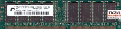Micron MT16VDDT6464AG-265B1 PC2100U-25330-B1 512MB DDR1 266MHz RAM* r130