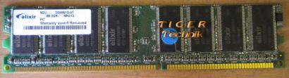 Elixir M2U51264DS8HB2G-6K PC2700U-25331 CL2 5 512MB DDR1 333MH RAM* r141