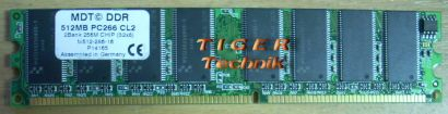 MDT M512-333-16 PC2700 512MB DDR1 333MHz 2Bank 256M Chip Arbeitsspeicher* r144