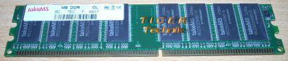 takeMS MS64D64020U-6 PC2700U 512MB DDR1 333MHz Arbeitsspeicher* r145