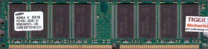 Samsung M368L6423DTL-CB0 PC2100U-25330-B1 CL2 5 512MB DDR1 266MHz RAM* r147