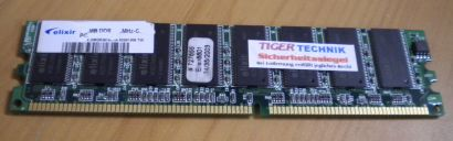 Elixir M2U51264DS8HB3G-75B PC2100U-25330 CL2 5 512MB DDR1 266MHz RAM* r155