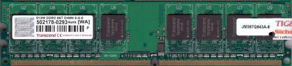Transcend PC2-5300 512MB DDR2 667MHz CL5 Arbeitsspeicher RAM* r159