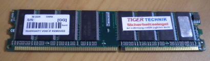 Transcend PC2700 CL2 5-3-3 512MB DDR1 333MHz Arbeitsspeicher* r164