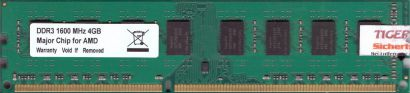 Noname PC3-12800 4GB DDR3 1600MHz Arbeitsspeicher RAM Major Chip for AMD* r173