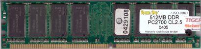 PC2700 512MB DDR1 333MHz mit Infineon Chip Arbeitsspeicher* r178