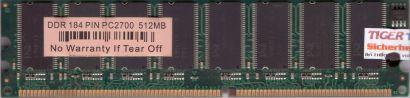 PC2700 512MB DDR1 333MHz mit no Name Chip Arbeitsspeicher* r181