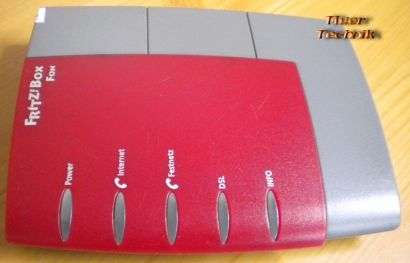 Fritz!Box Fon Arcor Edition ADSL-VOIP-TK-Anlage Rot Lan ISDN USB* nw345