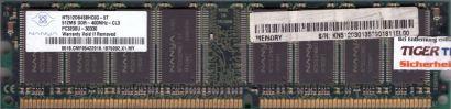 Nanya NT512D64S8HC0G-5T PC3200U-30330 CL3 512MB DDR1 400MHz RAM* r185