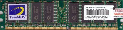 TwinMos M2S9J16A-PS PC-3200 512MB DDR1 400MHz RAM M2S9J16AJAPS9F0811A-T* r193