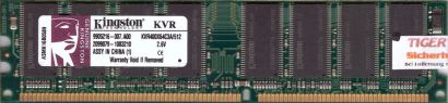 Kingston KVR400X64C3A 512 PC-3200 512MB DDR1 400MHz 9905216-007 A00 RAM* r194
