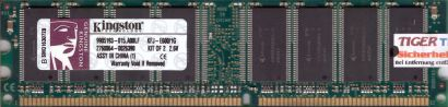 Kingston 1GB Kit 2x 512MB KFJ-E600 1G PC-3200 DDR1 400MHz 9905193-015 A00LF*r197