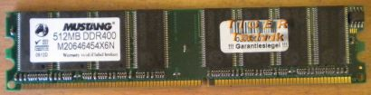 Mustang M20646454X6N PC3200 512MB DDR1 400MHz Arbeitsspeicher* r200