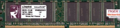 Kingston KVR400X64C3A 512 PC-3200 512MB DDR1 400MHz 9905193-015 A00 RAM* r204