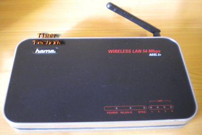 Hama 00053120 Wireless LAN 54 Mbps WLAN Modem Router ADSL2+* nw350