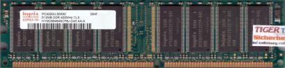 Hynix HYMD564646CP8J-D43 AA-A PC-3200 512MB DDR1 400MHz Arbeitsspeicher RAM*r209
