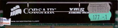 Corsair XMS CMX512-3200C2 PC-3200 512MB DDR1 400MHz CL2 XMS3202v5.1 RAM* r217